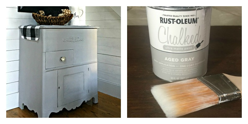 Easy Furniture Makeover With Rustoleum Chalk Paint In Aged